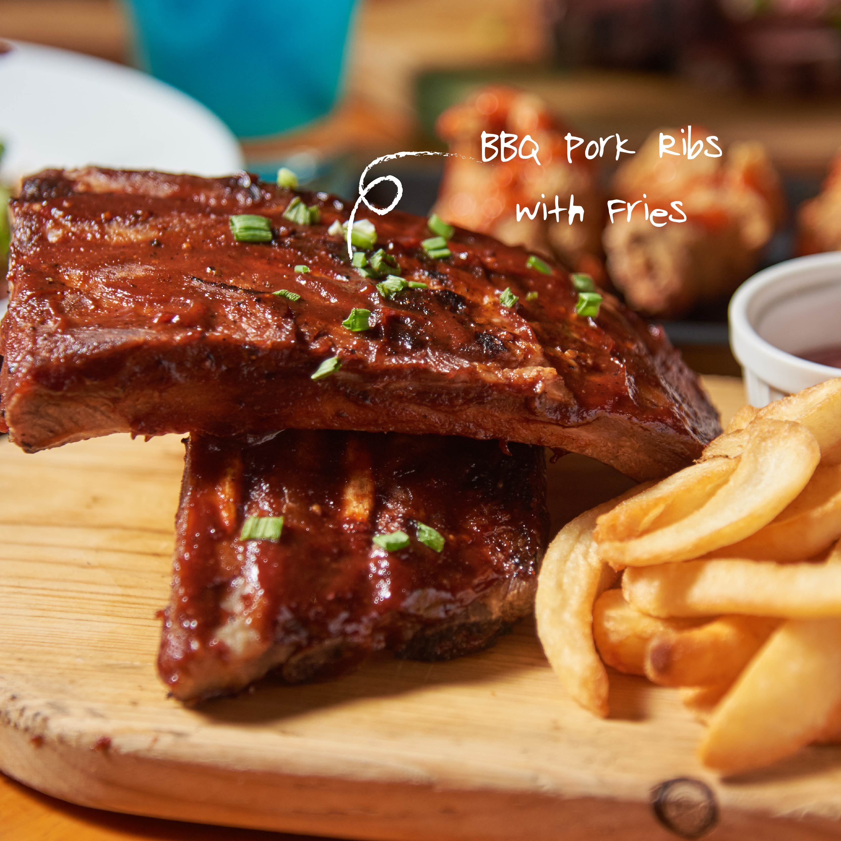 BBQ Pork Ribs with Fries